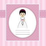 First Communion girl. First Communion Invitation Card. Girl Royalty Free Stock Images