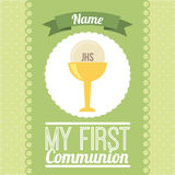 First communion. My first communion  design,  illustration eps10 graphic Stock Image