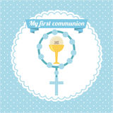 First communion. My first communion  design,  illustration eps10 graphic Royalty Free Stock Photography