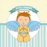 First communion. My first communion  design,  illustration eps10 graphic Royalty Free Stock Photo
