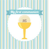 First communion. My first communion  design,  illustration eps10 graphic Royalty Free Stock Images