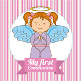 First communion. My first communion  design,  illustration eps10 graphic Stock Photography