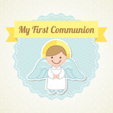 First communion. Over white background vector illustration Stock Photo