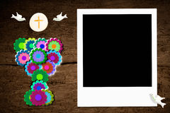 First Communion photo frame Royalty Free Stock Photo