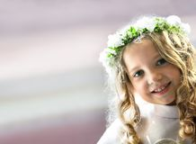 First Communion portrait Stock Photo