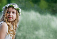 First Communion - portrait Stock Photography