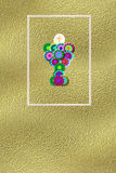 First communion reminder invitation gold. First communion reminder gold with space for message and name of children Royalty Free Stock Image