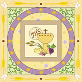 First communion. Symbolic illustration for the first communion Stock Image