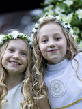 First Communion - Two Girls Royalty Free Stock Photography