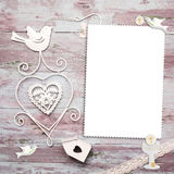 First Communion vertical photo frame card Stock Photos