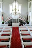 First Congregational Church in Bennington Vermont. The Interior of First Congregational Church in Bennington Vermont, as seen from the choir loft stock images