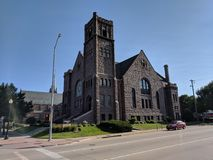 First Congressional Church, Sioux Falls. Church in downtown Sioux Falls, South Dakota stock images