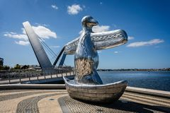 Free First Contact Sculpture Artwork At Elizabeth Quay, Perth, Australia Royalty Free Stock Photos - 162770058