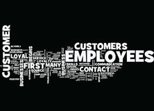 First Contact The Source Of Customer Loyalty Word Cloud Concept Royalty Free Stock Photography