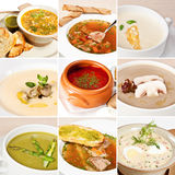 First courses collage Stock Photo