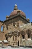The first courtyard of the Ishak Pasa Palace near Dogubayazit in eastern Turkey. Stock Photos
