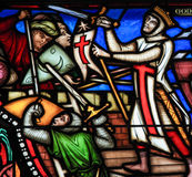 First Crusade - Stained Glass Royalty Free Stock Photo