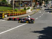 First in the cup Pereira Colombia. Cup internarional of karts cool amaizing no Royalty Free Stock Image