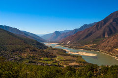First curve yangtze river Stock Image