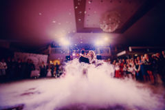 First dance bride in a restaurant.  Royalty Free Stock Image