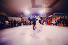 First dance bride in a restaurant Stock Photo