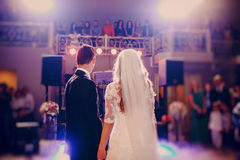 First dance bride in a restaurant Stock Photography