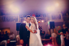 First dance bride in a restaurant Royalty Free Stock Photography