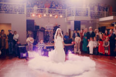 First dance bride in a restaurant Royalty Free Stock Images