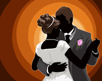First Dance. A digital illustration of a couple dancing on their wedding day Stock Images