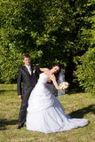 First dance of vife and husband Royalty Free Stock Image