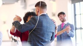 First Dance At The Wedding. Couples are dancing together at a wedding stock video footage