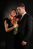 First Date. Beautiful young couple having a first romantic date Royalty Free Stock Image