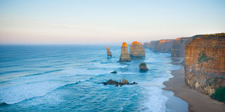 First dawn light on the Twelve Apostles Royalty Free Stock Photo