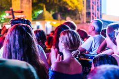 First Day Of Annual Golden Buttonwood Music Festival In Cinarcik Town - Turkey. Turkish Altincinar or Golden Buttonwood Music Festival held in Cinarcik town of royalty free stock image