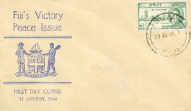 First Day Cover 1946 - Fiji Stock Photo