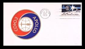 First day issue celebrating the Apollo - Soyuz Royalty Free Stock Photos