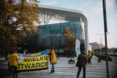 First day of the new shopping center Wroclavia in Wroclaw Royalty Free Stock Images