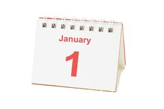 First day of new year Stock Photo
