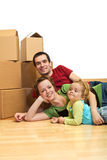 The first day in our new home Royalty Free Stock Photo