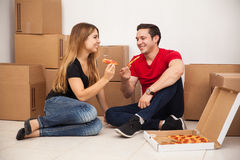 First day in our new home Stock Photos