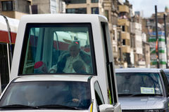 First day of Pope Benedict XVI visit to UK Royalty Free Stock Photos