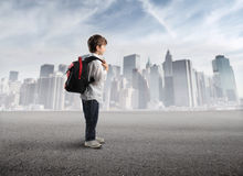 First day school Royalty Free Stock Photo