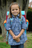 First day at school. Little girl at her first school day Stock Photo