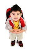 First Day of School. Adorable 5 year old boy ready for first day of school Royalty Free Stock Image