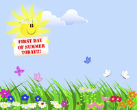 First Day of Summer. Royalty Free Stock Photo