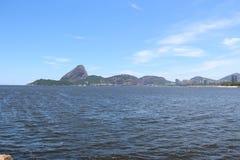 First day of summer in Brazil. Rio de Janeiro, Brazil, December 21, 2016: Summer officially began in Brazil this morning 21. In Rio de Janeiro the day was sunny stock photo
