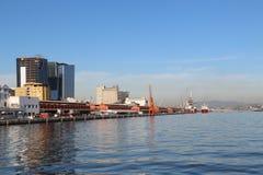 First day of summer in Brazil. Rio de Janeiro, Brazil, December 21, 2016: View of Port Area. Summer officially began in Brazil this morning 21. In Rio de Janeiro stock photos