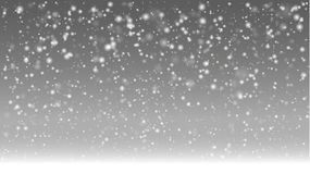 First day of winter with heavy snow fall stock illustration