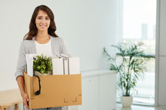 First day at work Royalty Free Stock Images