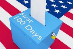 First 100 Days concept Stock Photos
